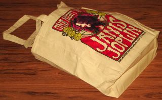 Janis Joplin Tote Bag Handbag Purse Hippie Authentic New