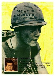 the Smiths POSTER Meat Is Murder LARGE Promo Morrissey Johnny Marr peta