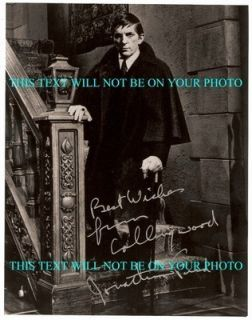 Jonathan Frid Autographed 8x10 RP Photo Dark Shadows Barnabas Collins