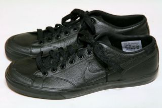 NEW NIKE CAPRI SI MENS BLACK LEATHER TENNIS SHOES 7 5 FREE SHIP