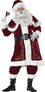 Jolly OL' St Nick Mr Santa Claus Adult Mens Costume Red Suit Christmas Holiday