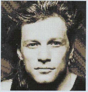 Jon Bon Jovi Cross Stitch Kit Rock