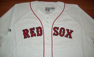 Jonathan Papelbon Boston Red Sox Jersey 4XL Majestic MLB Home White Stitched