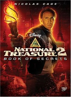 DISNEY National Treasure 2 Book of Secrets DVD 2008