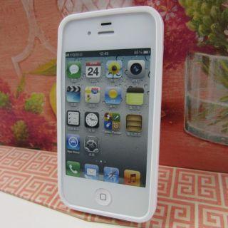 Apple iPhone 4 4S Jordan Black White Rubber Silicone Skin Case Phone Cover G