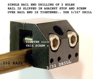 CODE 332 RAIL JOINER DRILL JIG WITH 2 SETS STAINLESS STEEL RAIL JOINERS