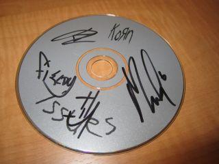 Korn Group Signed Autographed CD Jonathan Davis A