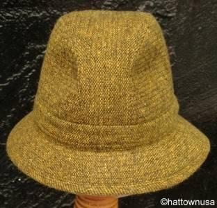 New Irish Walking Hat Donegal Tweed Wool Walker Olive Yellow Jonathan Richard
