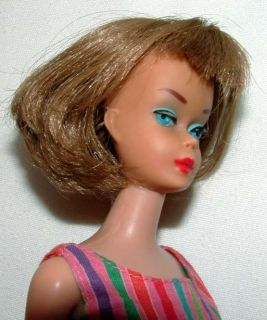 1960s MATTEL ASH BLONDE AMERICAN GIRL BARBIE DOLL w 934 AFTER FIVE OUTFIT NICE