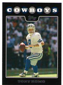 20 2008 Topps Black Tony Romo Card Lot Set 11COWBOYS