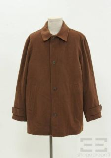 Joseph Abboud Outerwear Men's Brown Button Up Jacket