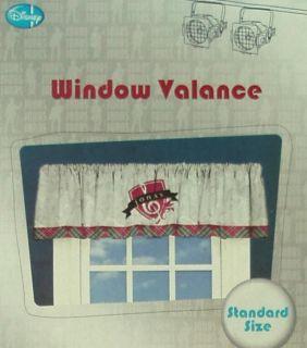 Jonas Brothers Plaid Note Valance Window Treatment New