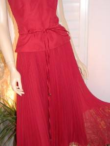 JORDAN Marilyn Monroe Vintage Style Formal Halter Wedding Crystal Pleat Dress 6