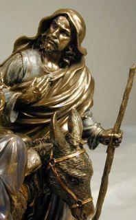 Holy Family Baby Jesus Mary Joseph Statue Bronze New
