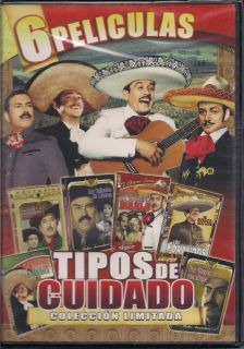 Tipos de Cuidado DVD New 6 PK Pedro Infante Jorge Negrete Javier Solis Y Mas