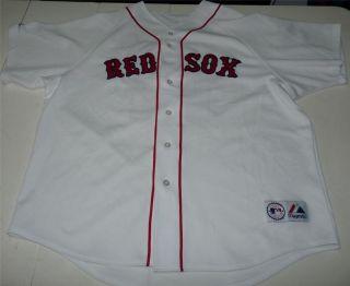 Majestic Josh Beckett Boston Red Sox MLB Stitched Baseball Jersey Mens XXL 2XL