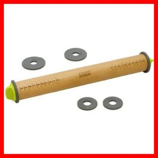 Joseph Joseph Adjustable Rolling Pin w Measuring Guide Rings ROLL0100CB