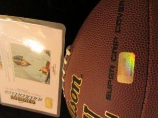 Joe Namath Autographed Wilson NFL Football Guaranteed Authentic Item EBA183