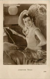 Josephine Baker Feather Costume 1920 Paris Real Photo Vintage Postcard