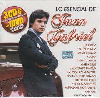 Lo Esencial De Juan Gabriel CD NEW 3 Disc DVD 80 Songs Grande Coleccion