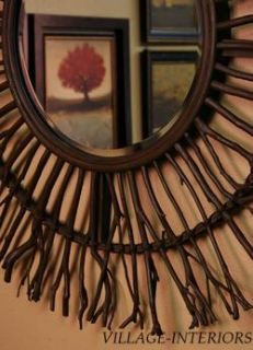 Josiah Uttermost Organic Wood Sunburst 38 Round Mirror