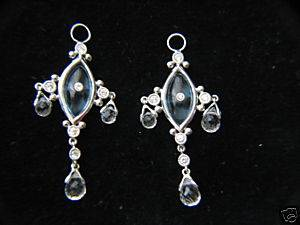 Jude Frances Marquis Chandelier Charms 18K White Gold
