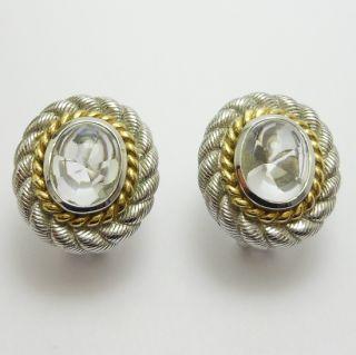 Judith Ripka Boxed Sterling Designer Earrings