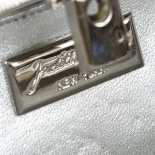 Judith Leiber Crystal Minaudiere Tassel Clutch Bag