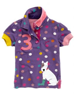 Joules Girls Moxie Polo Shirt Purple N JNRMOXIE