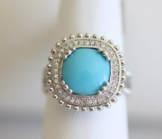 Jude Frances Sterling Silver Turquoise Diamond Ring