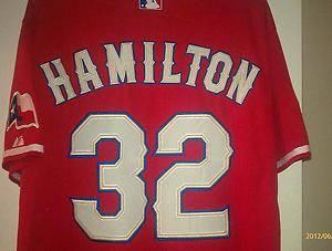 Josh Hamilton 32 World Series Texas Rangers Red Jersey
