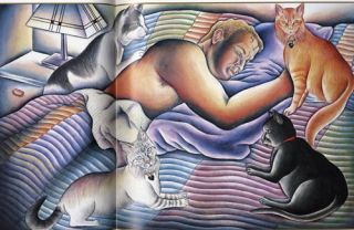 Judy Chicago Cat Art Great Illustrations of Her Cats A Kitty 'Book of Hours'