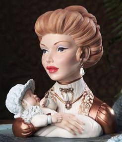 Cameo Girls Head Vase Judith 1892 A Mothers Love MIB LV 105 United Design 2003
