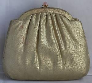 Judith Leiber Gold evening clutch purse