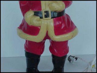 "Vintage Hard Plastic Illuminated Santa Claus Christmas 17"" Electrified Light Up"