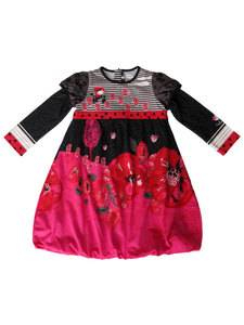 Catimini Baby Girl Red Black Dress Size 12M $84