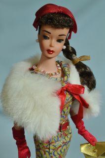 OOAK Vintage Brunette 1963 6 Ponytail Barbie Doll Repaint by Juliaoriginals
