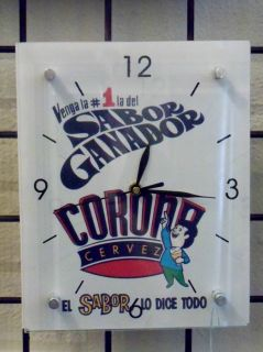 Puerto Rico Cerveza Corona Cantalicio Clock