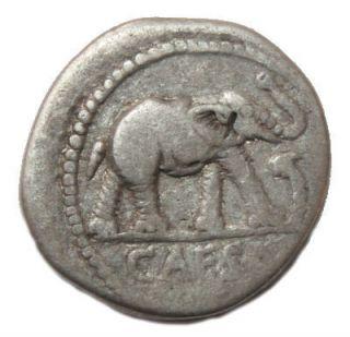 Julius Caesar AR Silver Denarius 40 B C