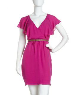 Julie Dillon Flutter Sleeve Belted Dress