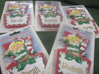 New Personalized Christmas Ornament Elf Many Names A L Boy Girl Free s
