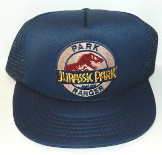 Jurassic Park Movie Park Ranger Logo Embroidered Patch Baseball Hat
