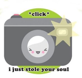 Just Stole Your Soul Camera Kawaii Sticker Vinyl Decal