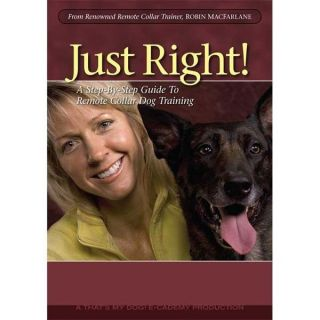 Dog Just Right Dog Obedience Behavior Modification Training DVD