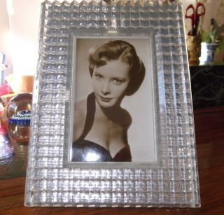 Deco Photo Picture Frame Stippled Lucite Perspex June Thorburn