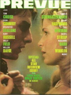 Prevue 78 Tom Cruise Kyra Sedgwick Cov K C Winkler Sean Connery