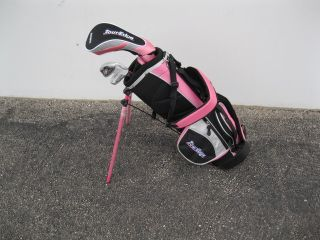 Junior Girls 2x1 Set with Bag FWY WD Iron Putter Age 3 5 Pink