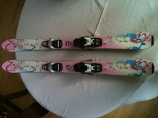 K2 Luv Bug Girls Childs Junior Skis 110 cm Shaped with Rossignol Comp