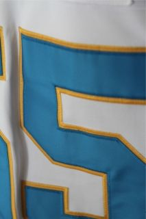 Chargers Junior Seau White Powder Blue Throwback Jersey