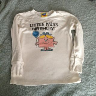 Junk Food Little Miss Birthday Pink Long Sleeve Shirt M 7 8